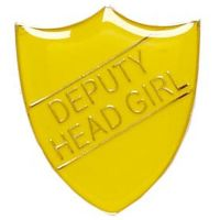 ShieldBadge Deputy Head Girl Yellow</br>SB021Y